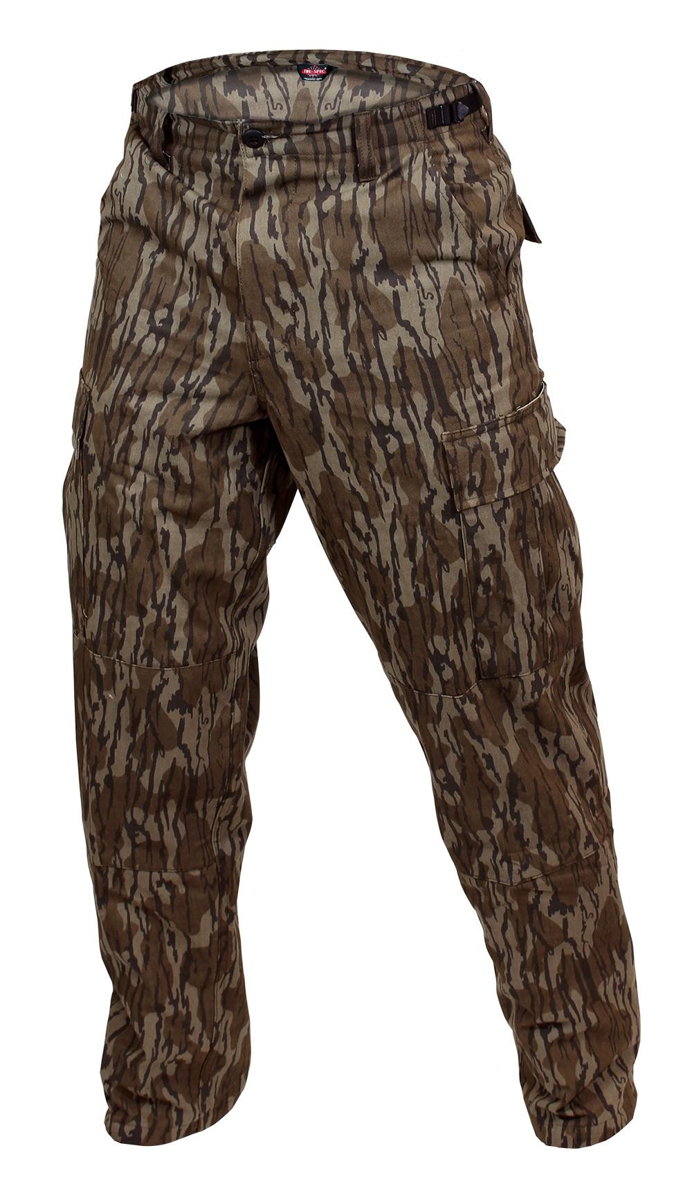 630ff8006 TRU-SPEC BDU Pants – Original Bottomland Camo 100% Cotton LRG 36-38 YN003