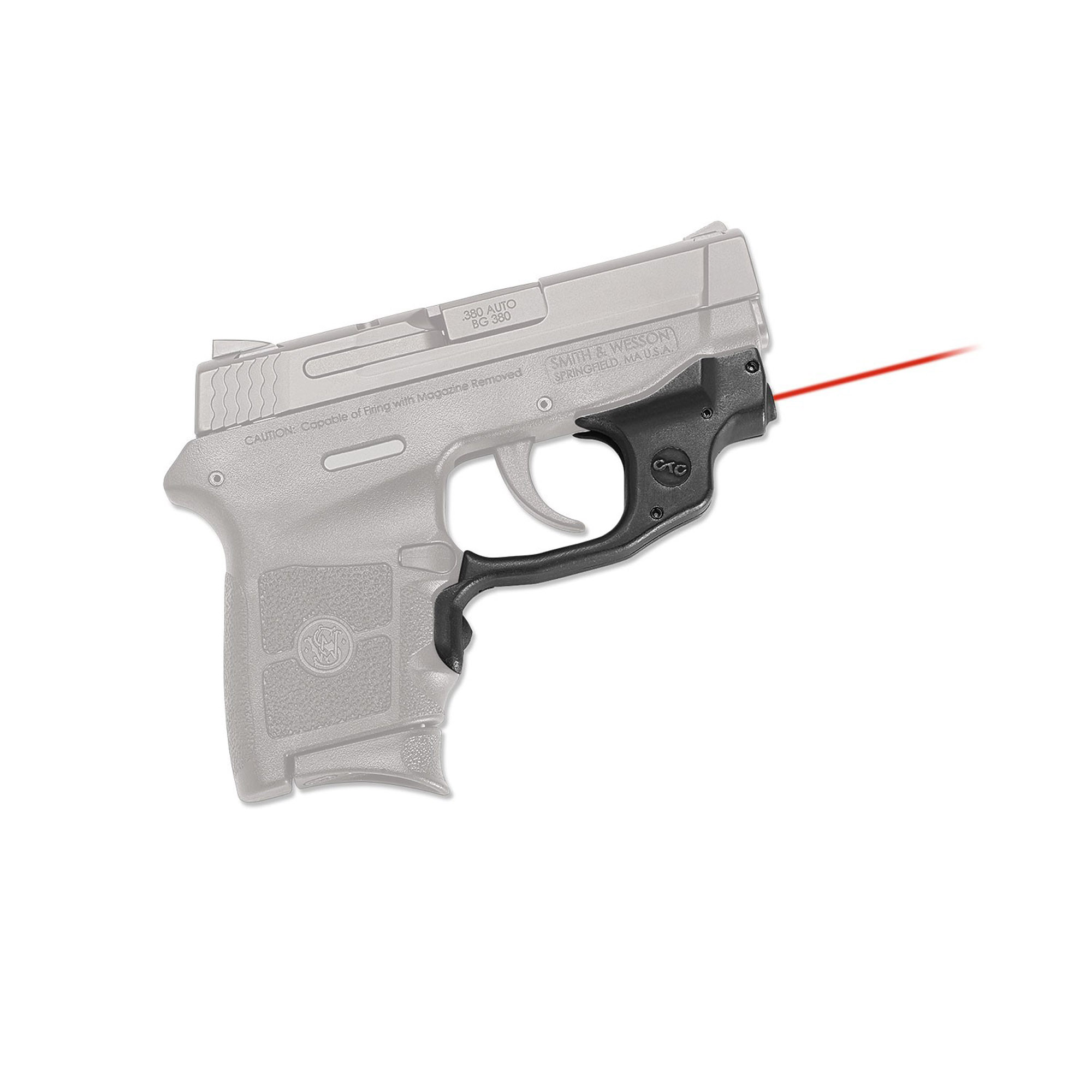 Crimson Trace Smith and Wesson M&P Bodyguard  380 Red Laser LG-454
