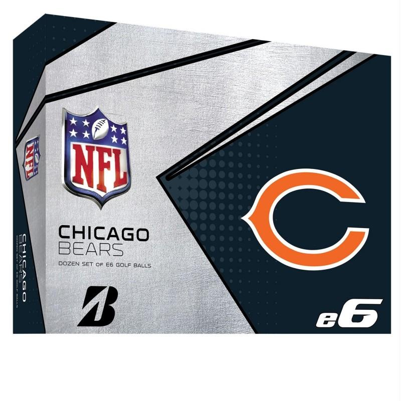 Bridgestone E6 Chicago Bears Golf Balls Dozen 6swxnflcb
