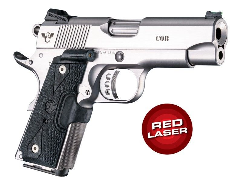 Hogue Laser Enhanced Grip Red Laser Officers Model 1911 Piranha Grip G10  43189