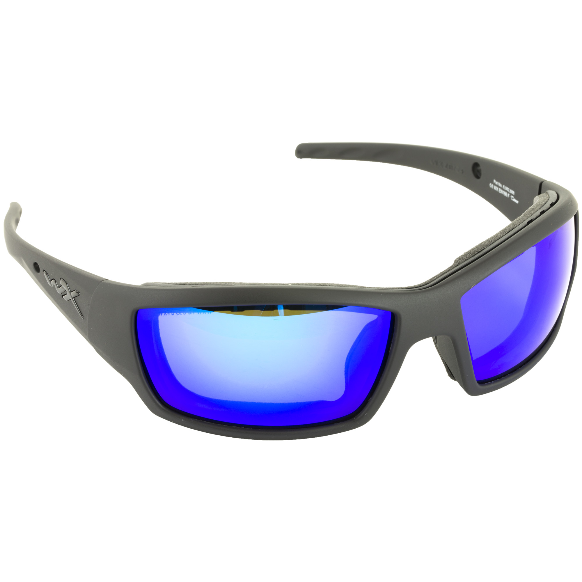 f05990df750 Wiley X Tide Polarized Mirror Sunglasses – Blue Mirror Lens – Gloss Black  Frame CCTID09