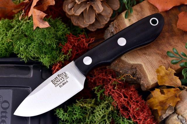 Bark River Knives PSK Elmax Steel Black Canvas 041MBC